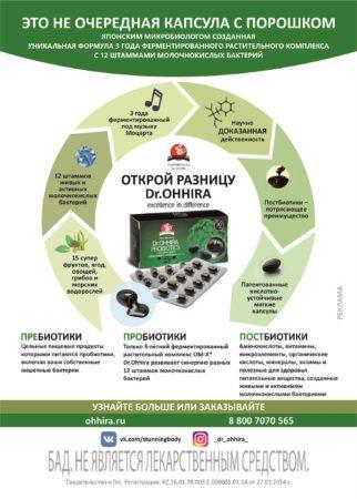 Открой разницу Пробиотиков - схема